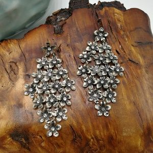 🌵 Gypsy Tibet silver flowers curtain large chic